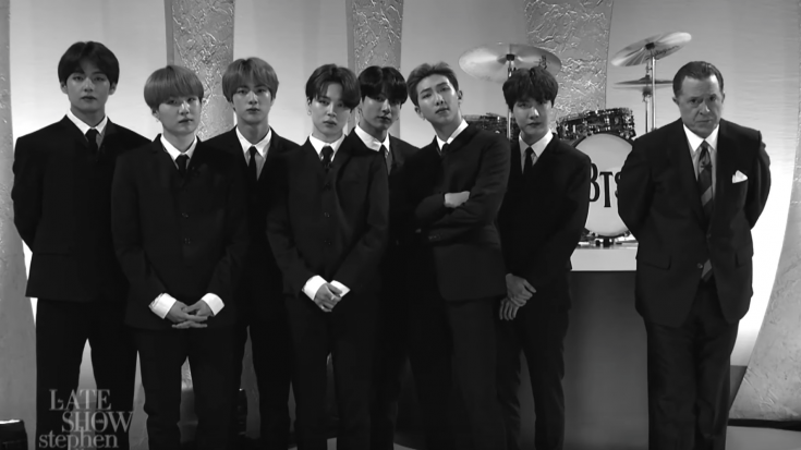 World Famous K-Pop Band Dress Like Beatles On Late Night Show And Perform | I Love Classic Rock Videos