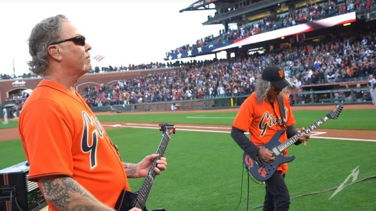 Watch Metallica Give America A Rock Rendition Of The Star Spangled Banner | I Love Classic Rock Videos
