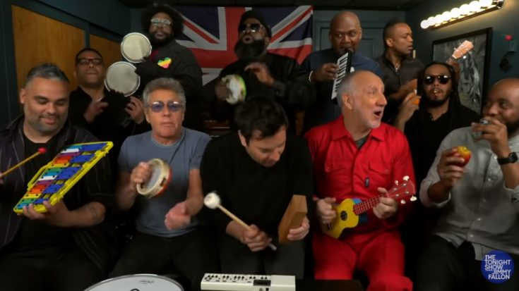 """The Who Joins Jimmy Fallon and The Roots to perform their Classic """"Won't Get Fooled Again"""" with Children Instruments. 