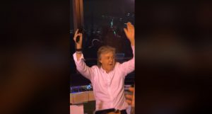 "Paul McCartney Parties With Crowd While Performing ""I Saw Her Standing There"""