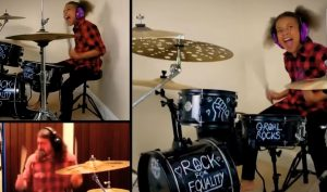 10 Year Old Continues Her Drum Battle With Dave Grohl