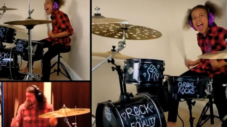 10 Year Old Continues Her Drum Battle With Dave Grohl | I Love Classic Rock Videos