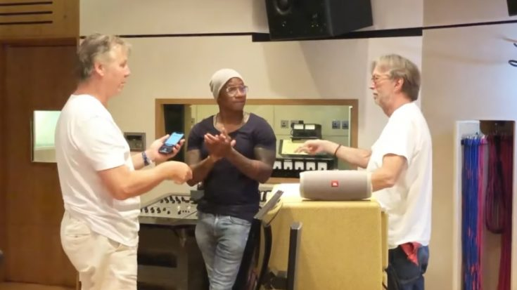 "Eric Clapton And Percussionist Pedrito Martinez Covers ""My Father's Eyes"" 