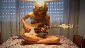 She Completely Owned 'Highway Star' Guitar Cover Solo